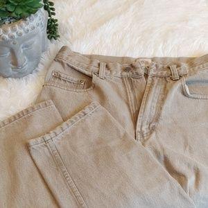 "Tan jeans 30"" x 32"" Cherokee"